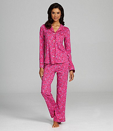 DKNY Print Party Long-Sleeve Pajama Set
