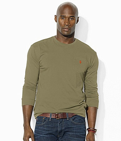 Polo Ralph Lauren Big  & Tall Classic-Fit Cotton Jersey Pocket Crewneck T-Shirt