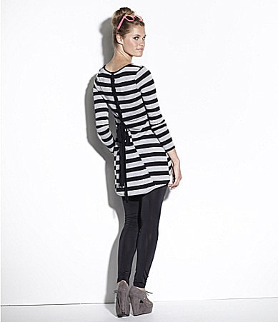 Moa Moa Striped Tunic Top & Basic Leggings