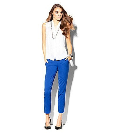 Vince Camuto Sleeveless Button-Down Blouse & Skinny Ankle Pants