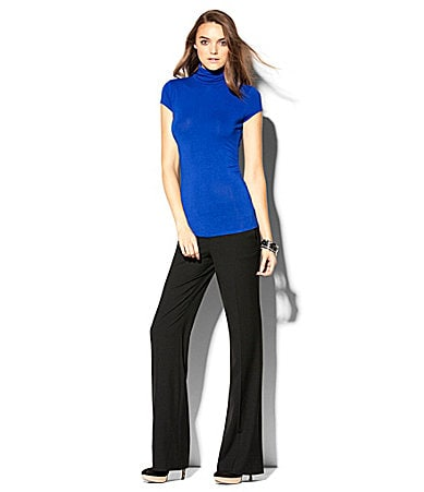 Vince Camuto Cap-Sleeve Turtleneck Top & Wide-Leg Knit Pants