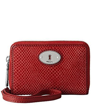 Fossil Perfect Gift Embossed Snake Zip Multifunction Wallet