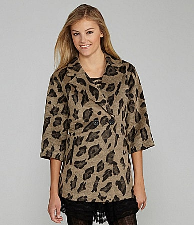 GB Cheetah Print Coat
