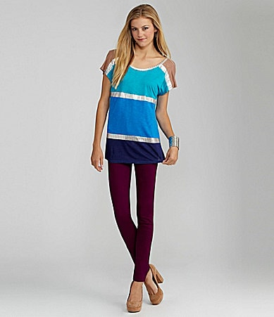 GB Colorblock Top & GB Colored Skinny Pants