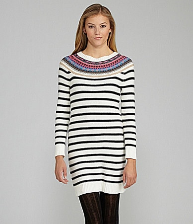 GB Striped Sweater Dress