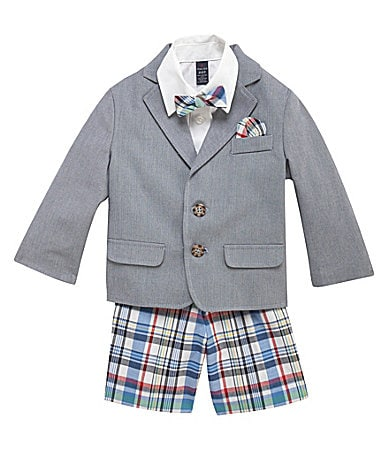 Class Club 2T-7 Chambray Plaid Suit Set