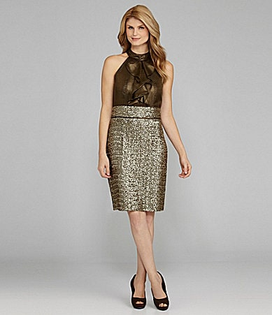 Antonio Melani Niko Sequin-Skirt Dress
