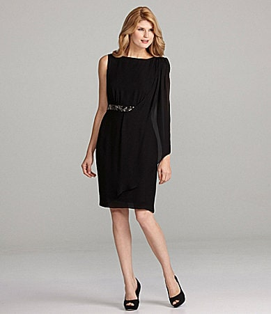 Antonio Melani Diamond Side-Drape Dress