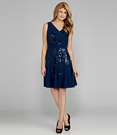 Antonio Melani Irenka Georgette Sequin Dress