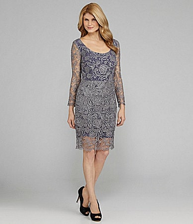 Antonio Melani Lisa Tiered Lace Dress