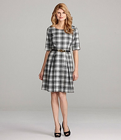 Antonio Melani Racer Plaid Dress