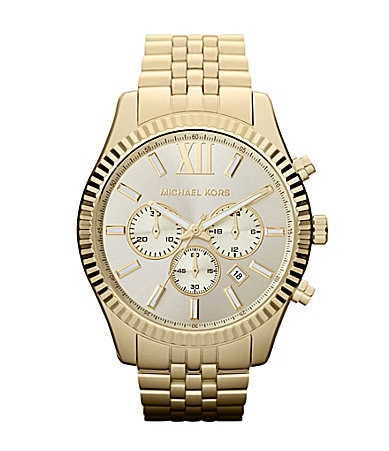 Michael Kors Lexington Men�s Gold Chronograph Watch