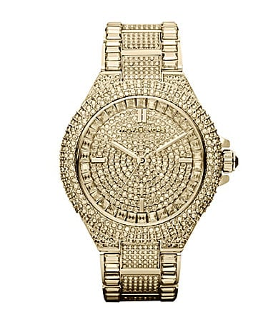 Michael Kors Ladies Camille Crystal Encrusted Watch