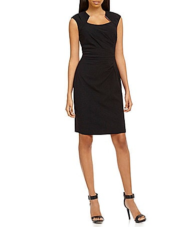 Calvin Klein Side-Ruched Knit Dress