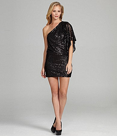 Jessica Simpson One-Shoulder Sequin Dress