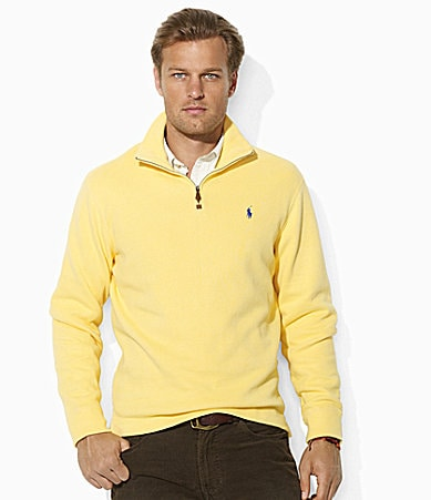 Polo Ralph Lauren Long-Sleeved French-Rib Half-Zip Sweater