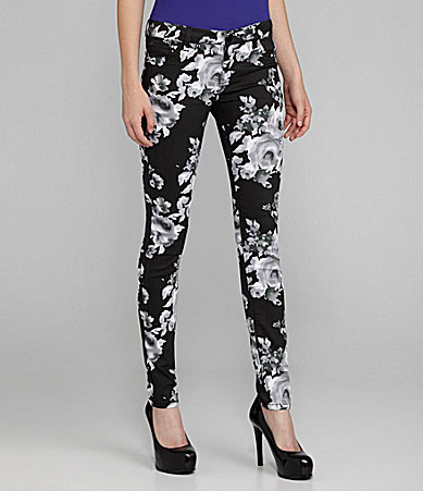 GB Rose-Print Skinny Pants