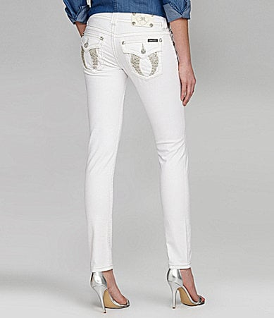 Miss Me Wing-Pocket Skinny Jeans