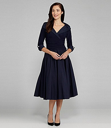 Jessica Howard Portrait-Collar Party Dress