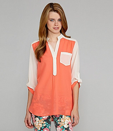 GB Colorblock Tunic Blouse