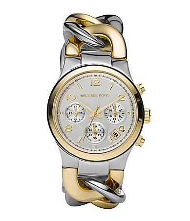 Michael Kors Runway Twist Two-Tone Watch