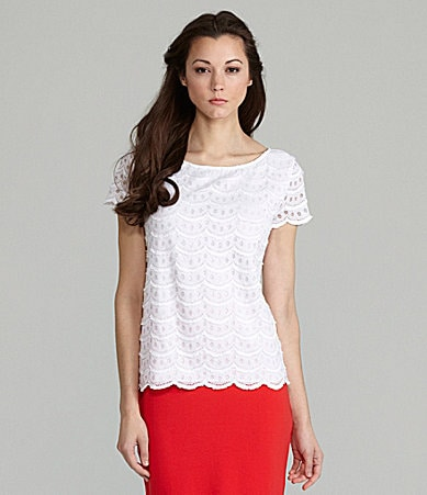 Cremieux Leah Scallop Lace Top