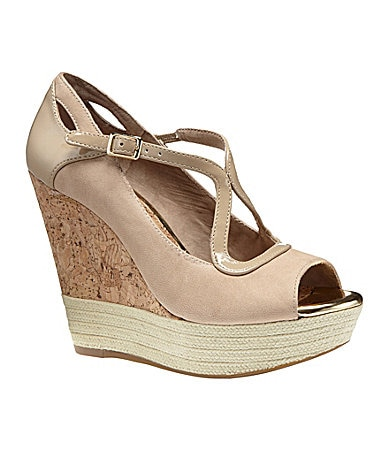 GB Gianni Bini Styl-ista Peep-Toe Wedges