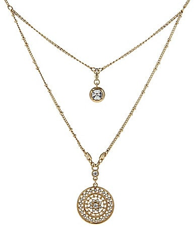 Jessica Simpson Boxed 2-Row Crystal Necklace