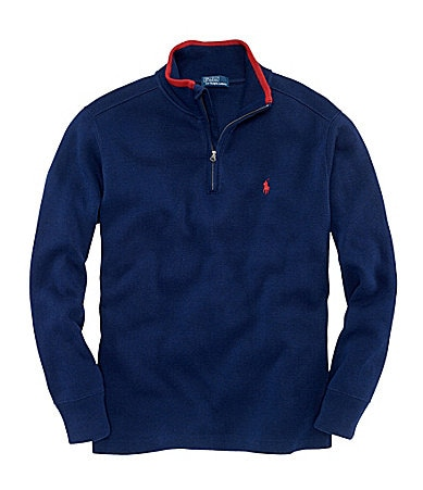 Ralph Lauren Childrenswear 2T-7 French Rib Half-Zip Sweatshirt