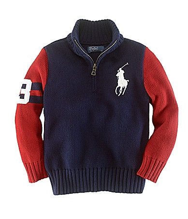 Ralph Lauren Childrenswear 2T-7 Colorblock Sweater
