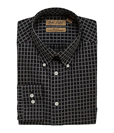 Roundtree & Yorke Gold Label Big & Tall Checked Sportshirt