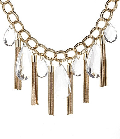 R.J. Graziano Tassel Front Statement Necklace