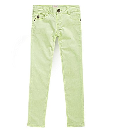 GB Girls 7-16 Sunbleached Neon Skinny Jeans