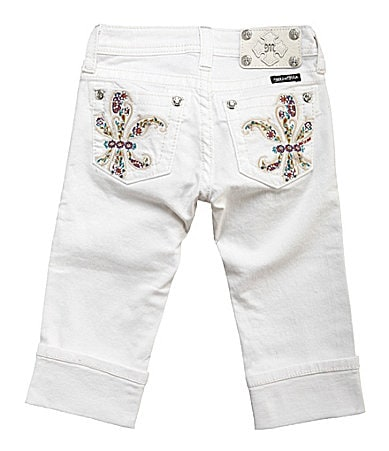 Miss Me Girls 7-16 Flower Power Capris