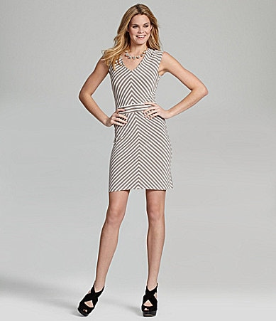 Cremieux Sabina Chevron Knit Dress