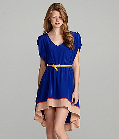 GB Hi-Low Colorblock Dress