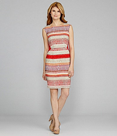 Antonio Melani Christina Cap-Sleeve Tribal-Print Dress