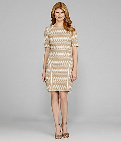Antonio Melani Nari Zig-Zag Crochet Dress
