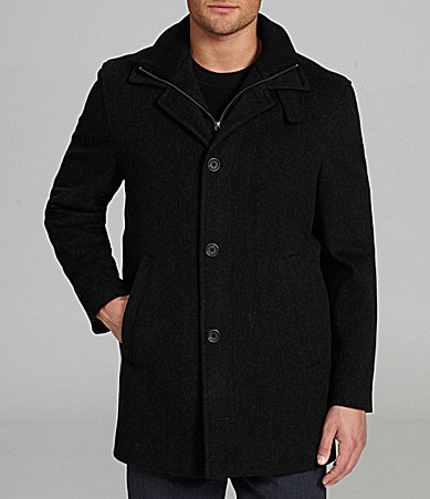 Cremieux Big & Tall Westport Button-Front Wool Coat