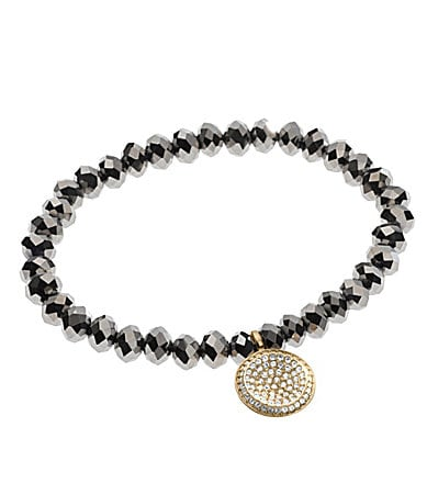 Michael Kors Brilliance Stretch Bracelet with Pave Disc Charm