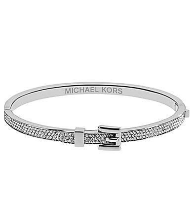 Michael Kors Buckle Collection Pave Bangle Bracelet