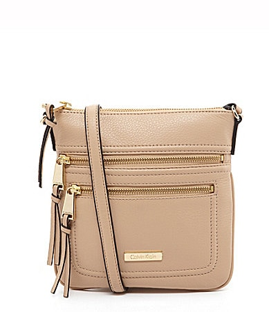 Calvin Klein Pebble Leather Cross-Body Bag