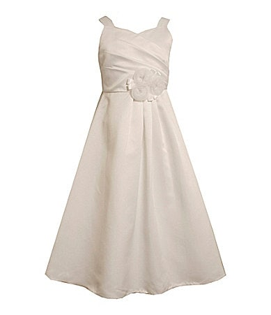 Bonnie Jean  7-12 Crossover-Bodice Dress