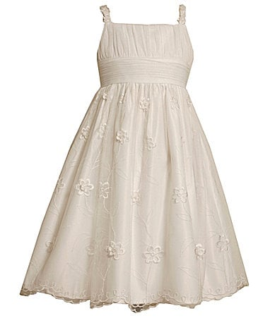 Bonnie Jean 7-16 Embroidered Emma Dress