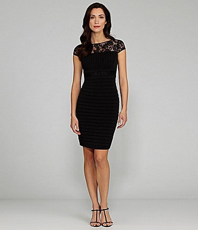 Sangria Lace-Yoke Sheath Dress