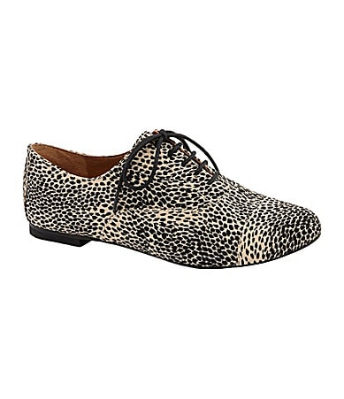GB Gianni Bini Tom-Boy Cheetah-Print Oxfords