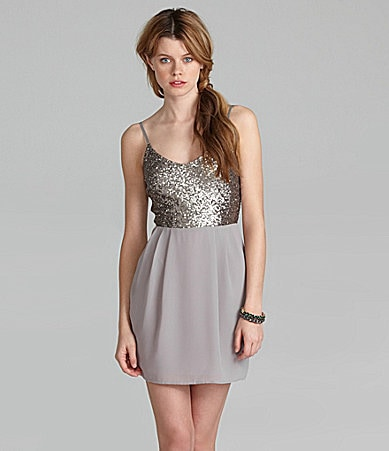 GB Sequin 2-Fer Dress