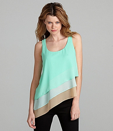 GB Colorblock Asymmetric Top