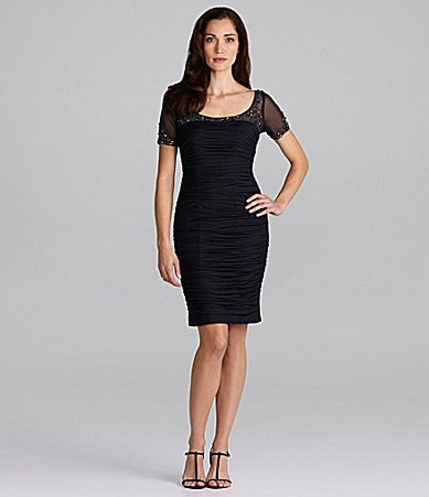 Adrianna Papell Illusion Dress