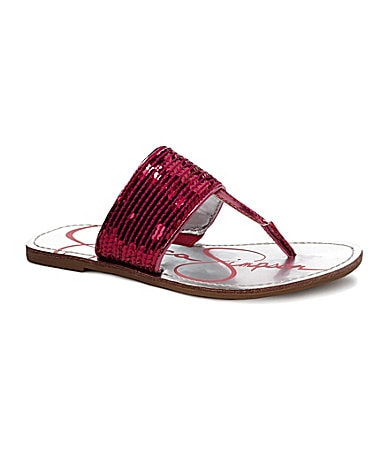 Jessica Simpson Girls� Millie Sequin Sandals